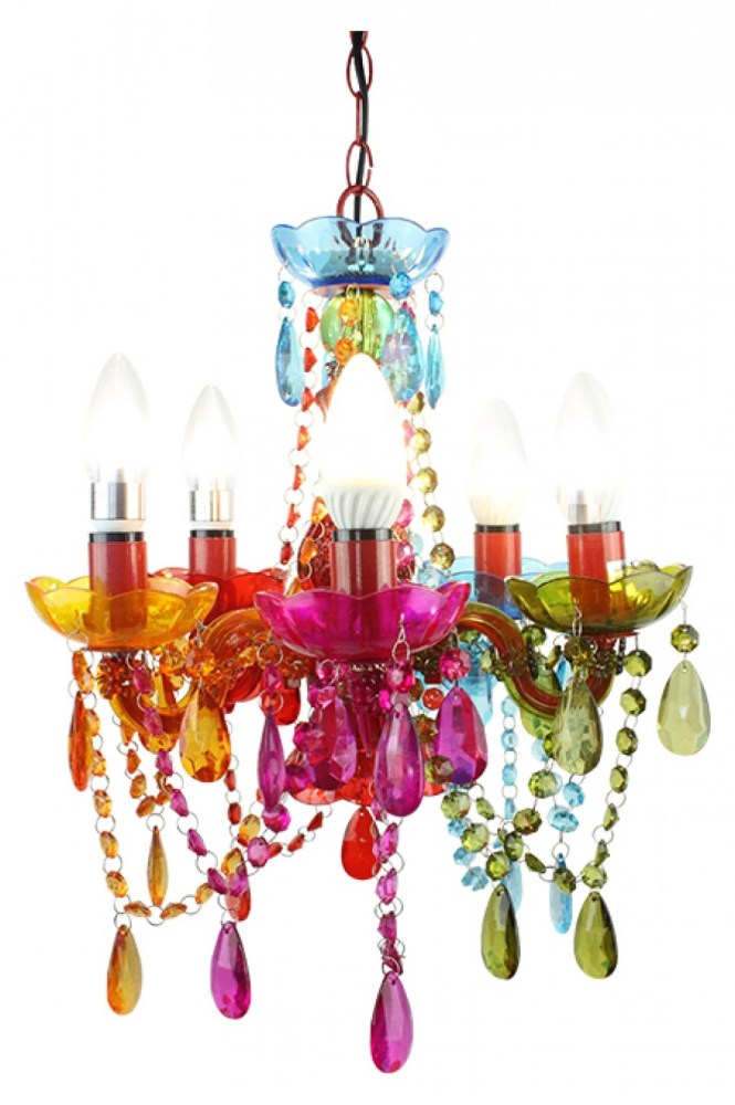 Coloured Chandelier Small Pertaining To Colourful Chandeliers Image 8 Of 15