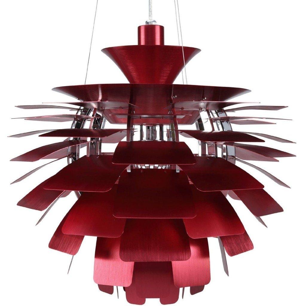 Red Globe Pendant Light