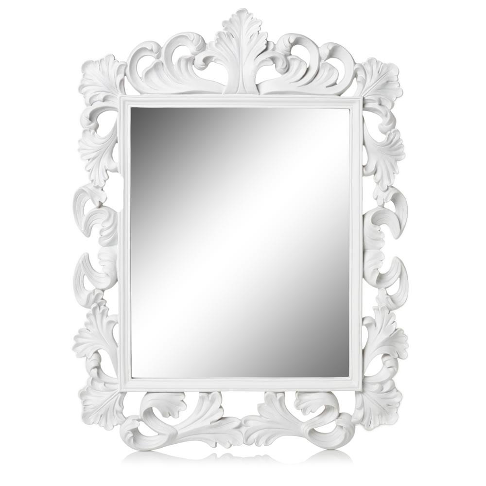 15 Ideas Of Large White Rococo Mirror Mirror Ideas