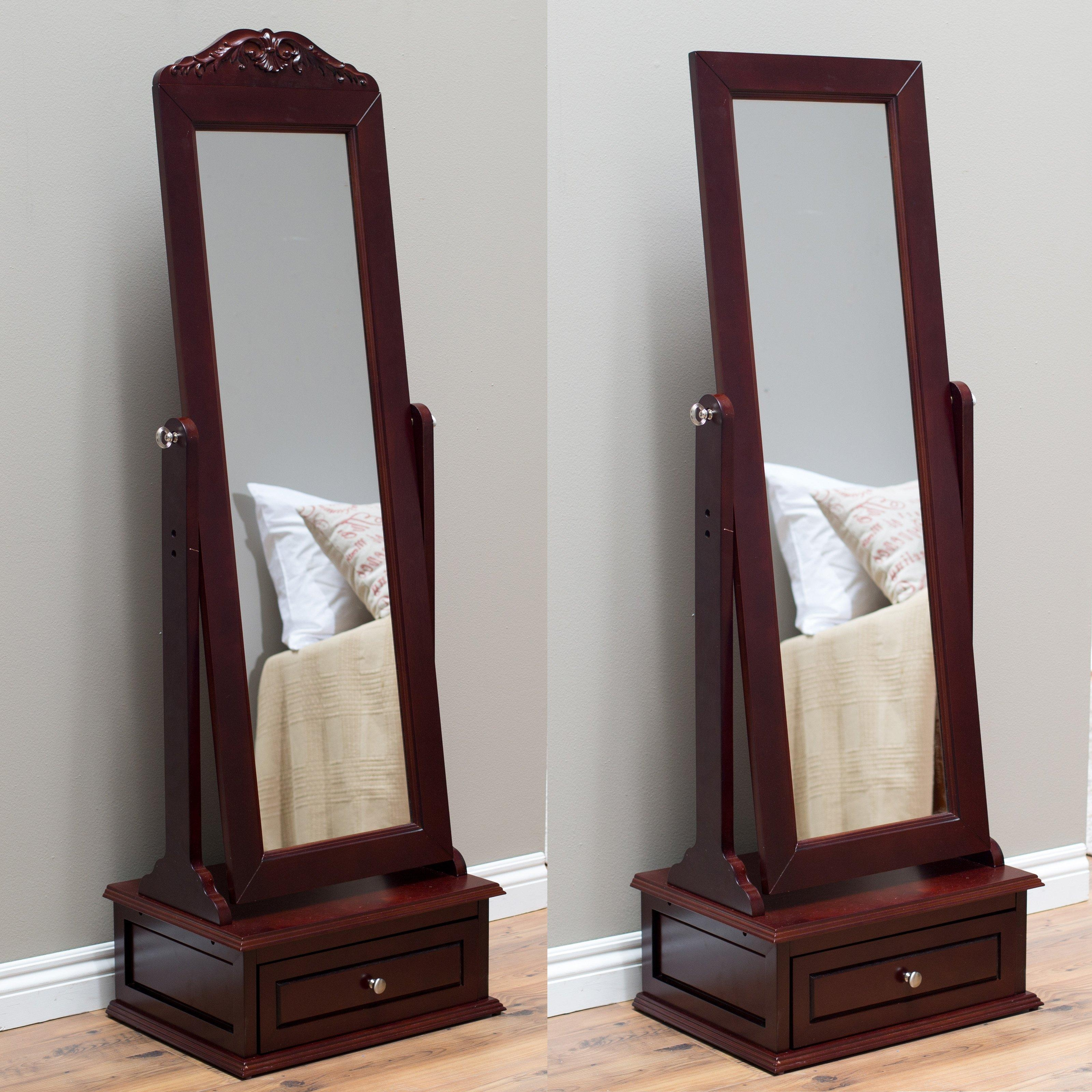 20 Best Ideas Free Standing Mirror With Drawer