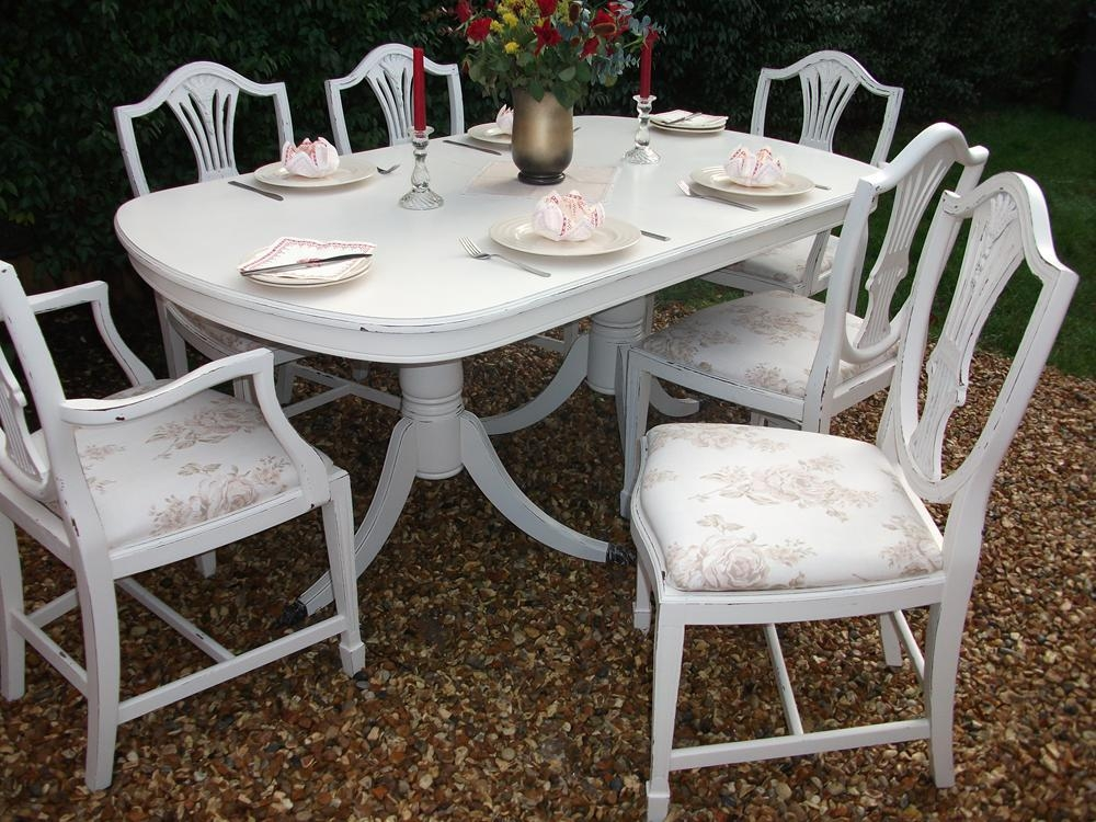 20 Best Ideas Shabby Chic Cream Dining Tables And Chairs