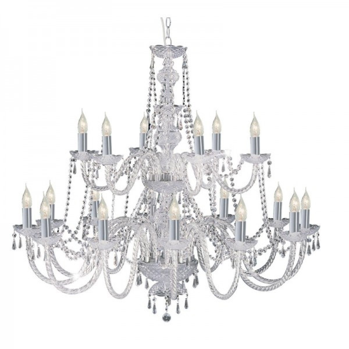 Chandelier Chrome And Crystal Chandeliers 24 Of 25 Photos