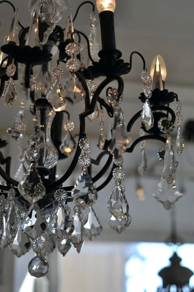 Mini Crystal Chandelier Wrought Iron Light Within Florian Chandeliers Image 22 Of