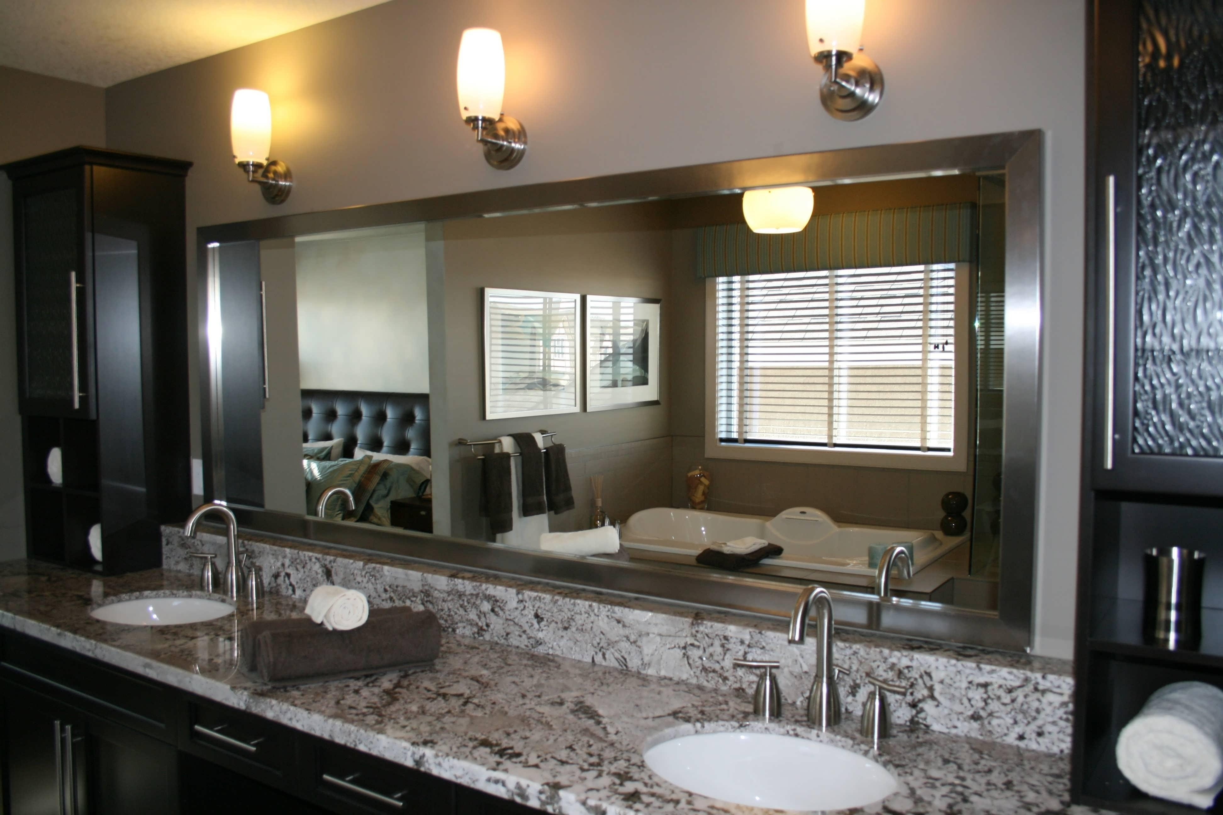 20 Ideas Of Large Mirrors For Bathroom Walls