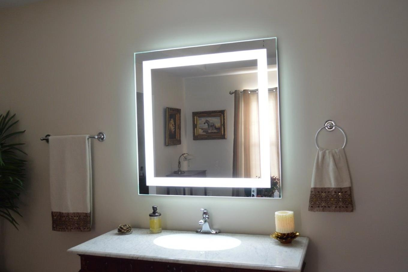 20 Inspirations Bathroom Wall Mirrors With Lights