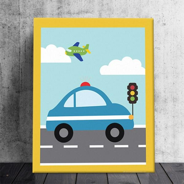 Cars Theme Canvas Wall Art Wall Art Ideas