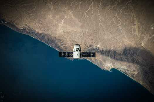 aerial view earth exploration flying