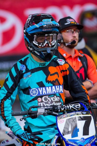 Tommys race face in Glendale SX (Racerx Cudby photo)