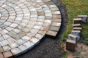 Pavers and brick can often be reused