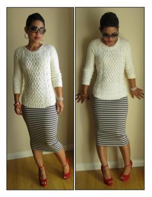 Knit pencil skirt tutorial from MimiG.