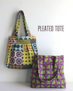 Pleated Tote pattern