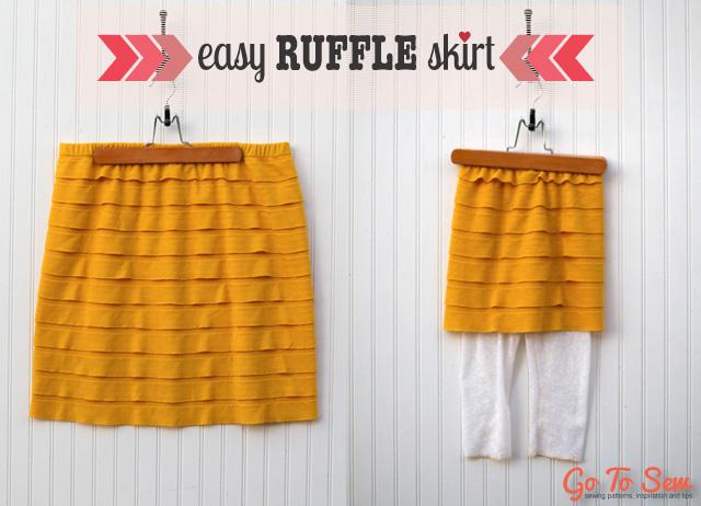 Easy Ruffle Skirt Tutorial from GoToSew.com