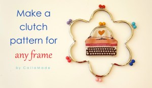 How to make a pattern for a metal purse frame