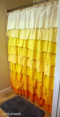 shower curtain tutorial
