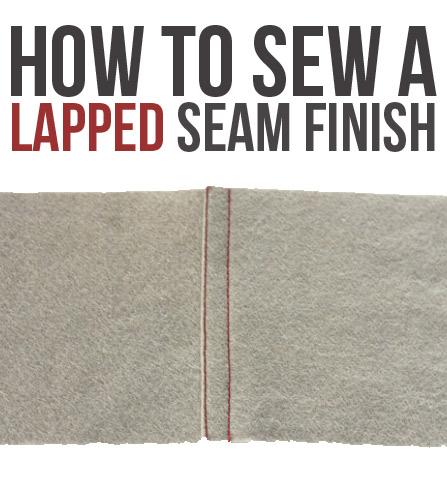 Fun seam finish! Lapped seam finish tutorial