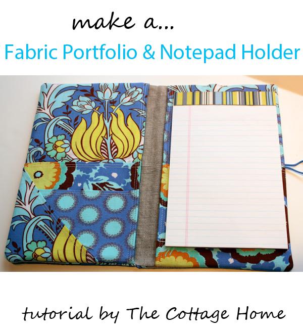 fabric portfolio or notepad holder