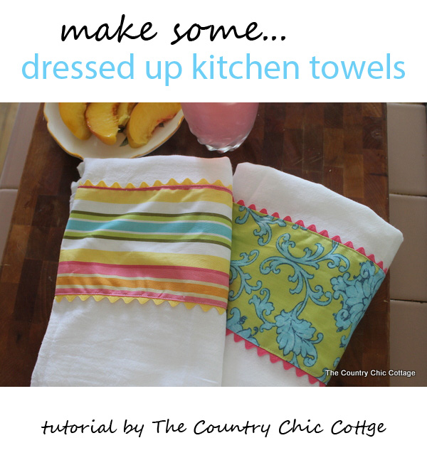 dressed up kitchen towels