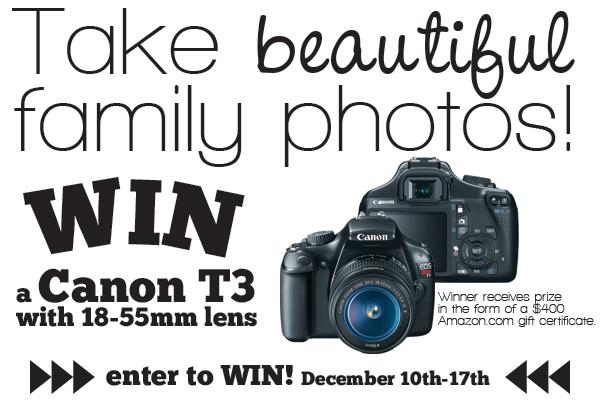 Win a canon camera!! Super easy entry!