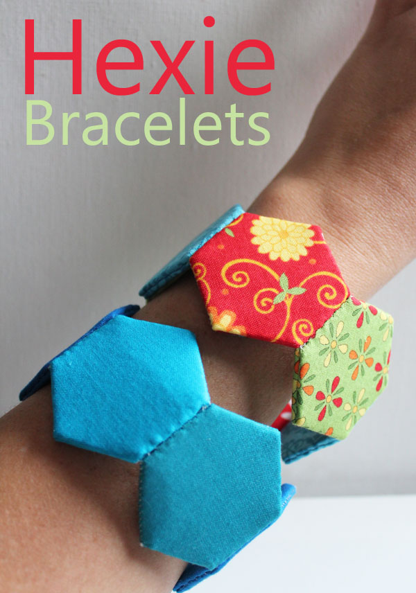 Fabric-bracelet-stitched-out-of-hexagons