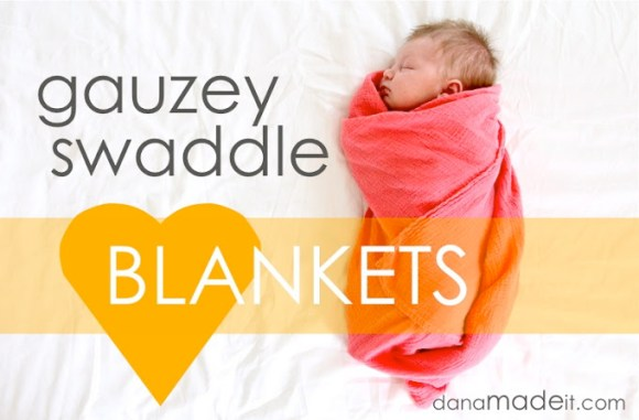 Gauze Swaddle Blanket Tutorial Sewtorial