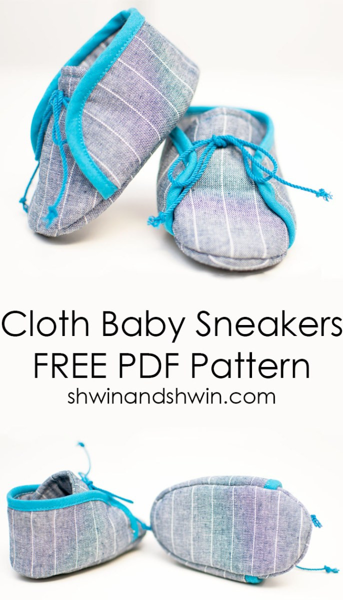Super cute diy cloth baby sneakers by Shwin and Shwin - Sewtorial