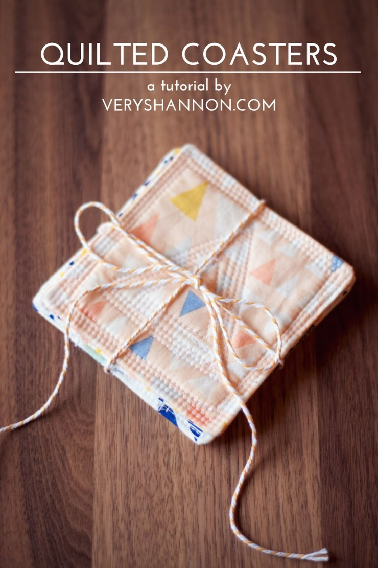 Modern Quilted Coasters Tutorial ||| VeryShannon.com #coaster #quilted #sewing #tutorial - Sewtorial