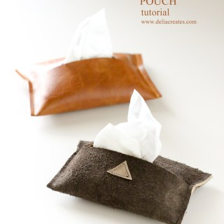 This leather tissue pouch by Delia Creates is a chic alternative to the trial size one's that you find at the grocery store. - Sewtorial