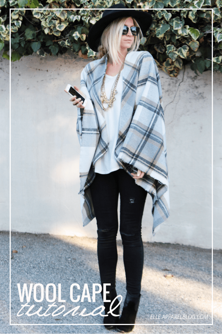 Wool cape tutorial with Elle Apparel - Sewtorial