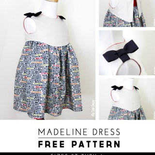 Just in time for Easter, The Sewing Rabit shares this adorable free dress pattern called the Madeline Dress for girls sizes 2T to 6. -Sewtorial