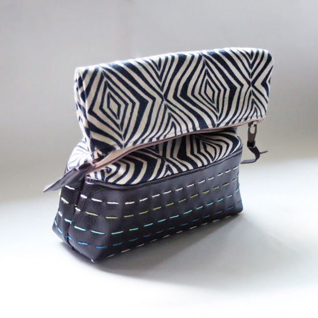 embroidery leather pouch. - Sewtorial