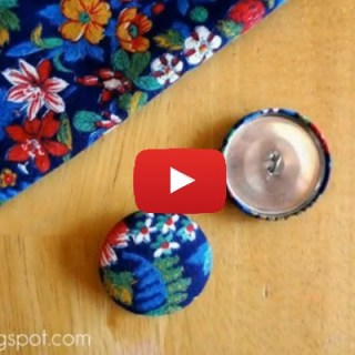In this video tutorial by FiberFlux, learn a simple way to create your own fabric covered buttons to personalize your next sewing project. - Sewtorial