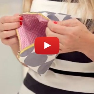 Dana from Made demonstrates an easy way to sew a lined zipper pouch. So cute! - Sewtorial