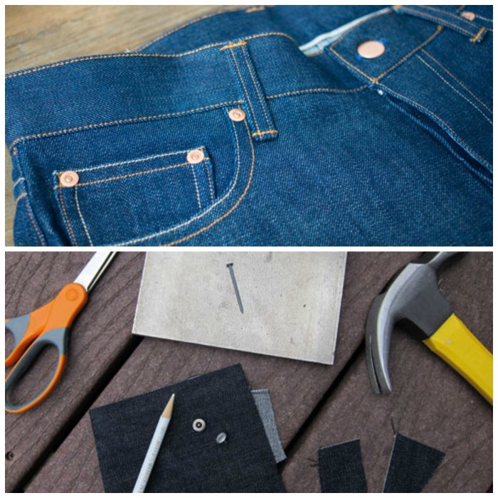 """Venturing into the world of denim? Learn to make an authentic looking pair of jeans with TaylorTailor's, """"How to Insert Jeans Rivets"""" tutorial. -Sewtorial"""
