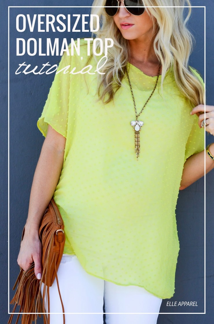 This oversized dolman top by Elle Apparel is great when you are looking for comfortable, understated style. It works as a maternity top, too. -Sewtorial