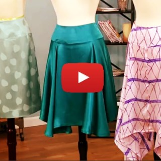 Learn the basics of how to drape a skirt in this video tutorial by Sew Easy (with Stephanie Miller). -Sewtorial