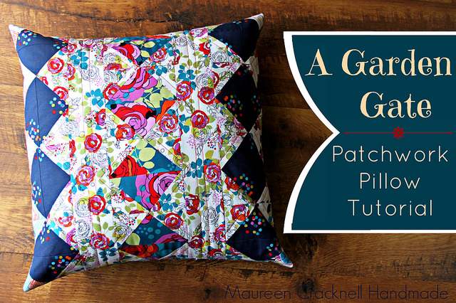 The Garden Gate Pillow is a beautiful quilted pillow that's sure to brighten up your room's decor. Maureen Cracknell Made shares the tutorial. -Sewtorial