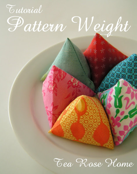 Make these super easy DIY pattern weights with your favorite fabric scraps and a few cups of rice. Tea Rose Home shares this super easy tutorial. -Sewtorial