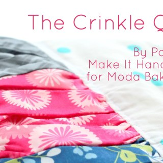 In this quilt tutorial by Make It Handmade, you learn to make a crinkle quilt that's full of texture and just a little bit out of the ordinary. -Sewtorial