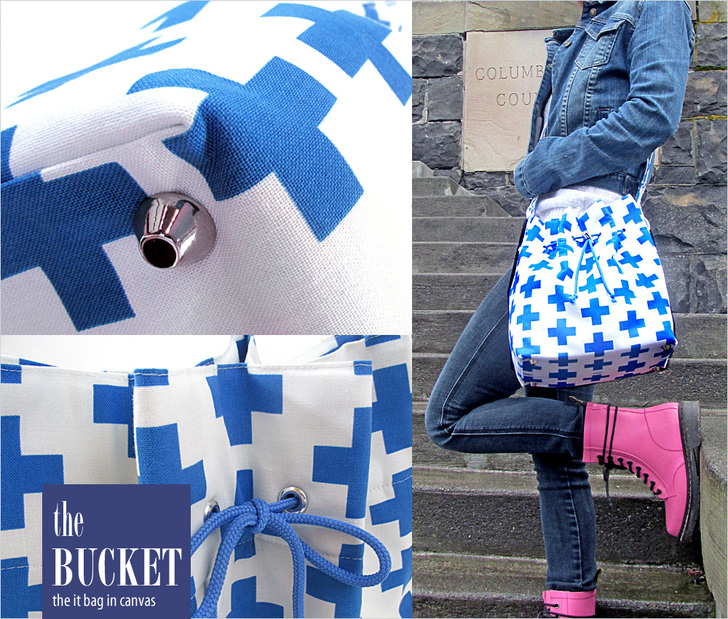 """Can a DIY handbag look as great as (or better than) a store bought bag? This Bucket Bag tutorial by Sew4Home says, """"yes!"""" -Sewtorial"""