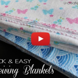 How many projects can you sew in 2 minutes? Try these 2-Minute Receiving Blankets by UCreate. Quickest project ever! -Sewtorial