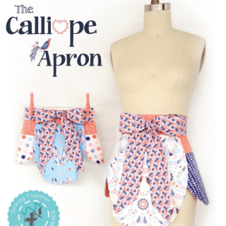 If you're a fan of unique aprons, then this 3-panel Calliope Apron by Hawthorne Threads will make a beautiful addition to your collection. -Sewtorial