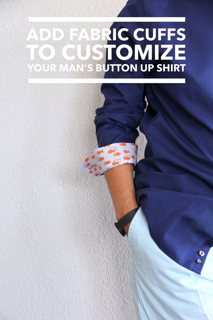 Looking for something practical to give this Father's Day? Add your handmade made touch to existing dress shirts by adding embellished cuffs -Sewtorial