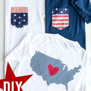 Celebrating the 4th of July in the US? Here are some quick DIY 4th of July Shirts by the Polka Dot Chair for those fun family pics. - Sewtorial