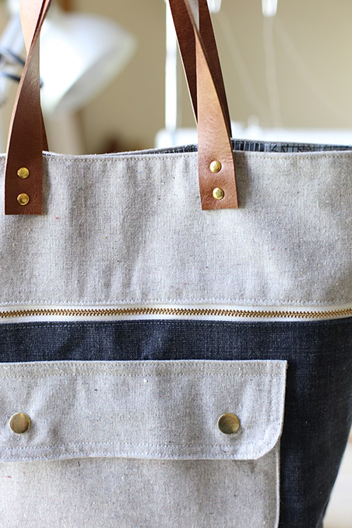 """Creating a """"store quality"""" bag is easy with the right supplies. Learn how to install rivets in this step-by-step tutorial by Sew MamaSew. -Sewtorial"""