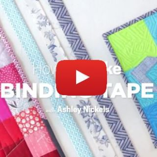 Creativebug shows how to make binding tape. When you're no long limited to the store bought varieties, the sky's the limit. -Sewtorial