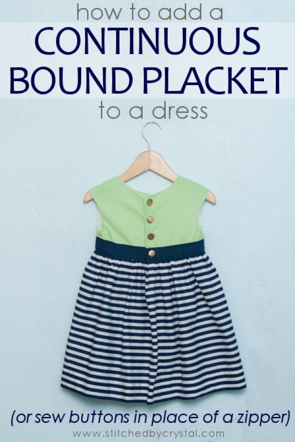 Stitched by Crystal demonstrates how to make a continuous bound placket in this step-by-step tutorial. -Sewtorial