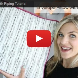 In this video, Melanie Ham shows how to create an easy envelope pillow with piping. -Sewtorial