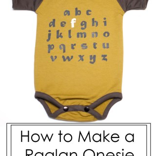 "Onsies are the ""go to"" babywear for most parents. Learn how to make a raglan onsie with this free pattern and tutorial by Shwin and Shwin. -Sewtorial"