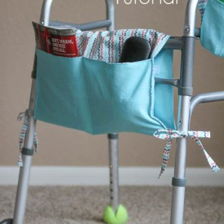 "Melissa from Melly Sews shares a lovely walker caddy that's easy to make and can be easily adapted to other types of ""walkers"" like strollers. -Sewtorial"