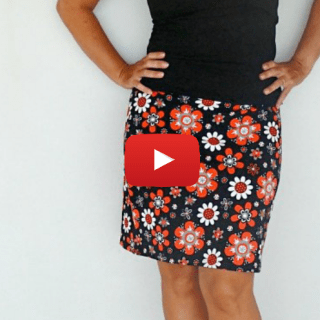 Grab your favorite knit fabric and make this 30 minute basic skirt in no time. Deby from So Sew Easy shows you how in this video tutorial. -Sewtorial